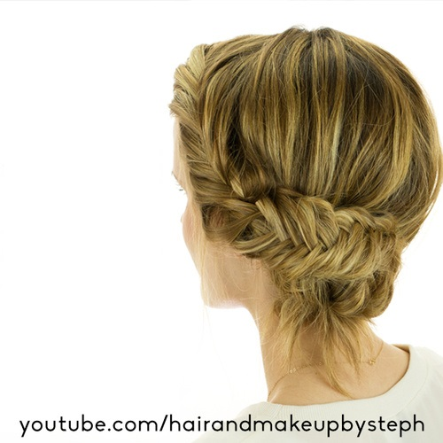 18 alluring loose updos for any event fishrailed bun loose updo urmus Choice Image
