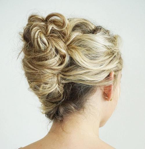 French Roll Updo For Curly Hair