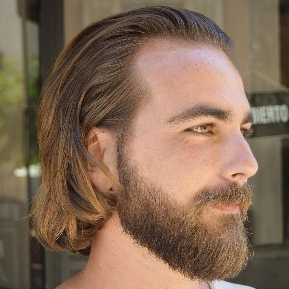 Medium Hairstyle With A Beard