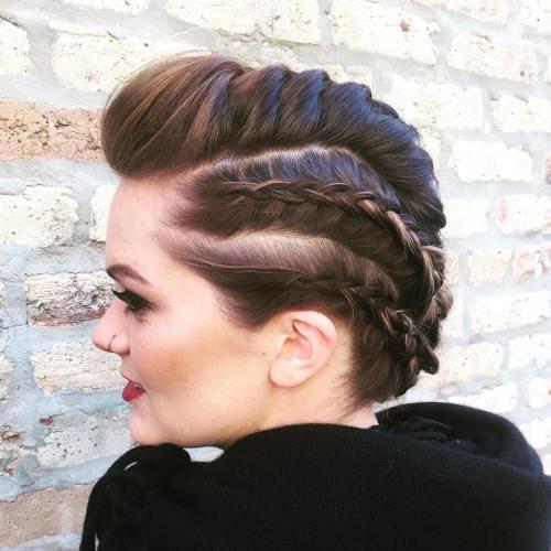 Mohawk Braids For Shorter Hair