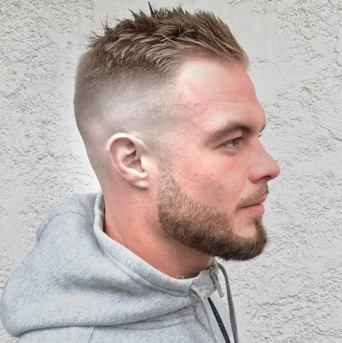 Half Shaved Blonde Cut For Men