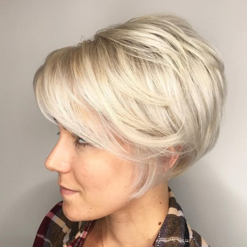 Blonde Layered Pixie