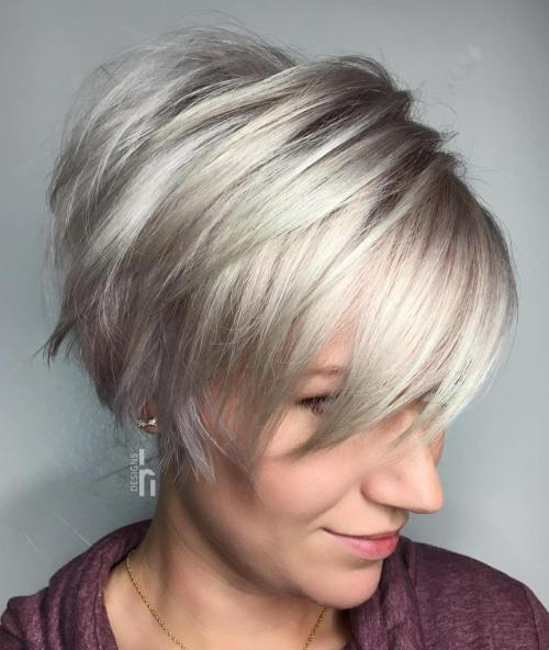 Choppy Long Pixie Cut