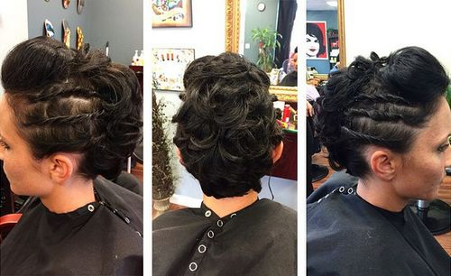 curly fauxhawk updo
