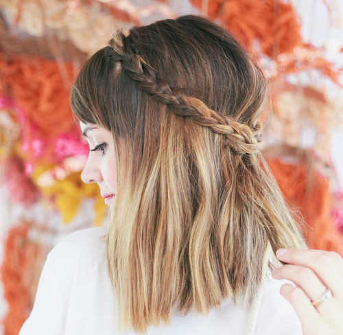 lob with a crown braid
