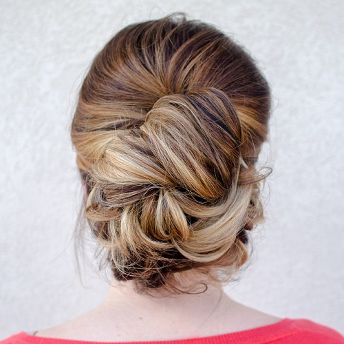 Casual Updo For Thick Hair