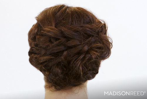 textured loose updo