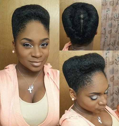 tall updo for natural hair