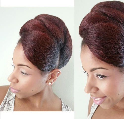 vintage updo hairstyle for natural hair for black women
