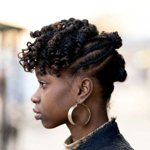 African American Curls And Braids Updo