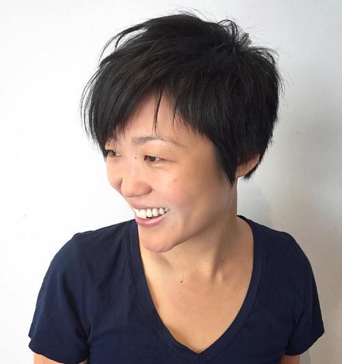 Asian Long Pixie Haircut