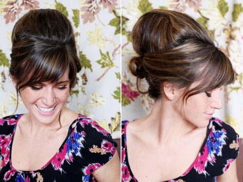 vintage updo with a bouffant