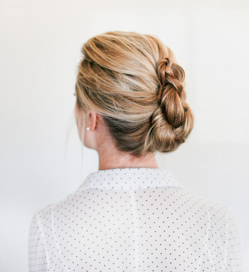 french twist braided updo