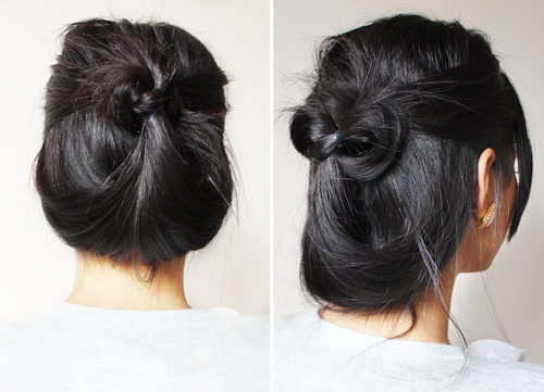 fun casual updo for long hair