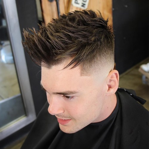 Spiked High Fade Haircut