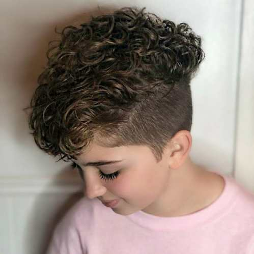 Pixie Undercut with Curly Top