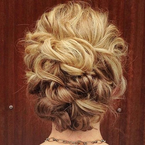 Beautiful Blonde Curly Updo