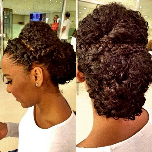 Updos With Braids And Curls: 50 Cute Updos For Natural Hair