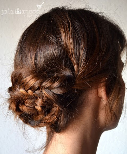 loose updo styles for long hair 18 alluring updos for any event 4636 | 3 messy fishtail bun for long hair