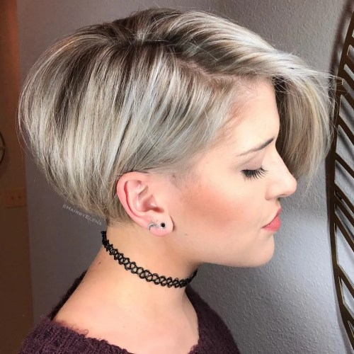 Ash Blonde Asymmetric Bob