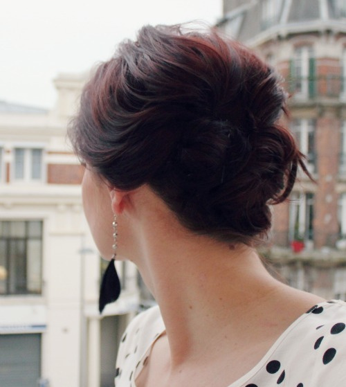 pretty updo for short hair tutorial