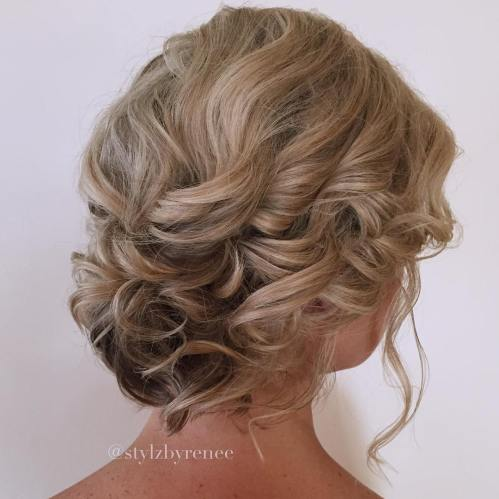 Simple Updo For Short Wavy Hair