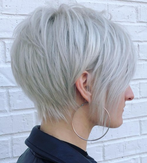 Textured Long Pixie Haircut