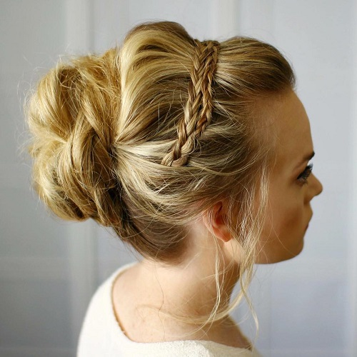 Two Braids And Casual Updo