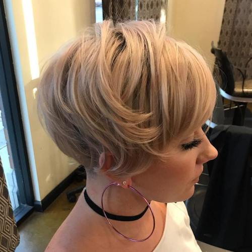 Feminine Rose Gold Pixie