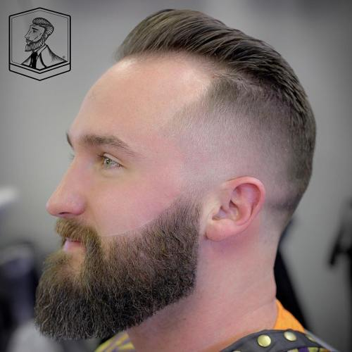 Hairstyles For Balding Men mens hairstyles haircuts for balding men with long hair Mohawk Fade For Receding Hairline