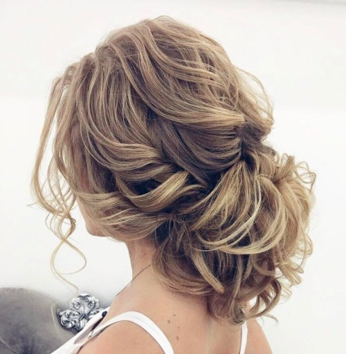 Wedding Loose Curly Updo For Long Hair