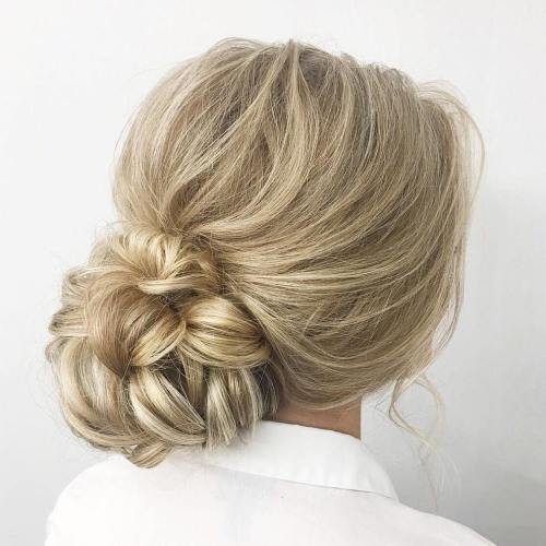 Low Looped Bun Updo
