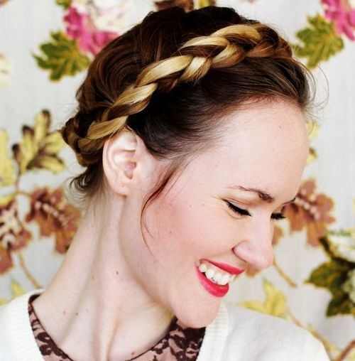 easy updo with crown braid