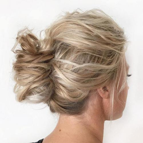 Casual Messy French Twist Updo