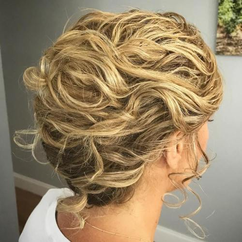 Curly French Roll Updo