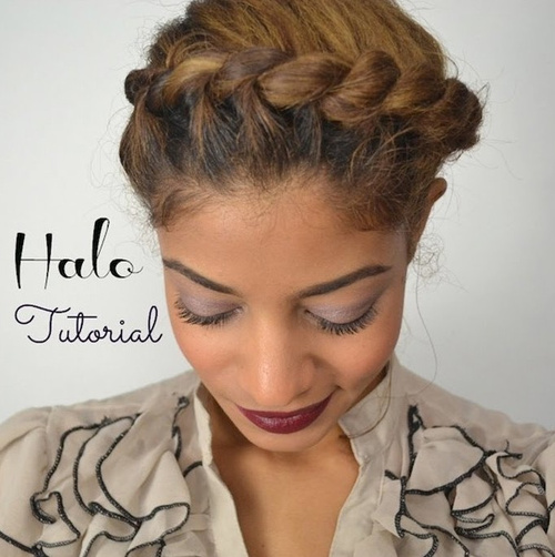 crown twist updo for natural hair