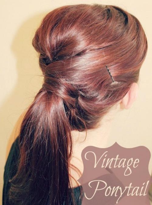 vintage ponytail updo