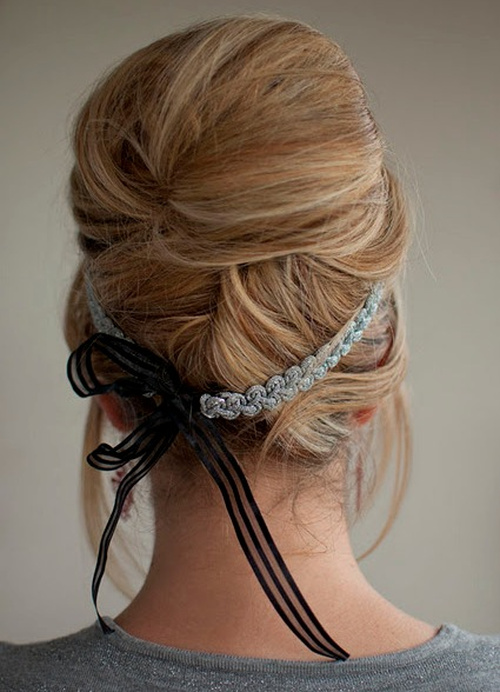 vintage french twist updo