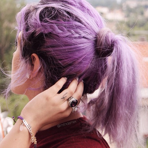 Pastel Purple Ponytail