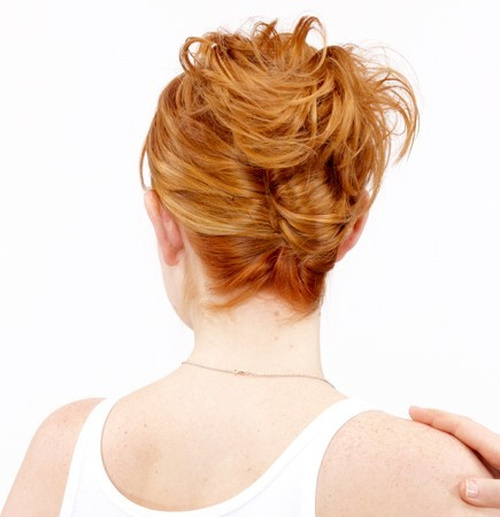 disheveled french twist updo