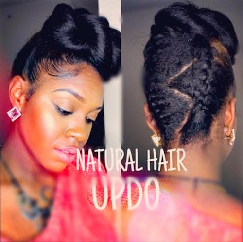 fancy updo hairstyle for black women