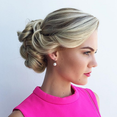 Twisted Bun Formal Updo