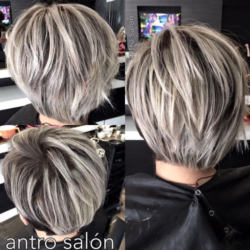 Short Layered Pixie Bob For Straight Hair