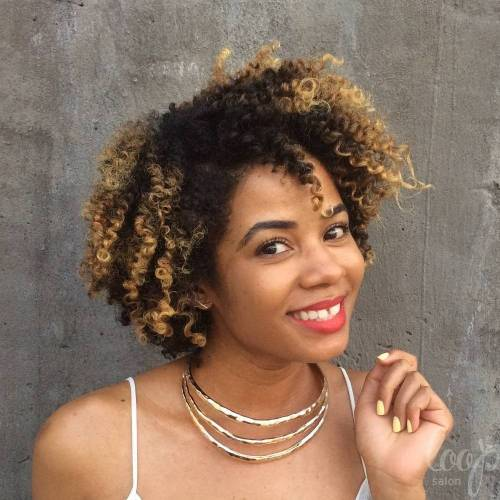 Short To Medium Natural Curly Hairstyle