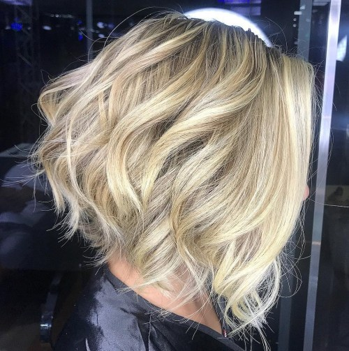 Tousled Inverted Blonde Bob