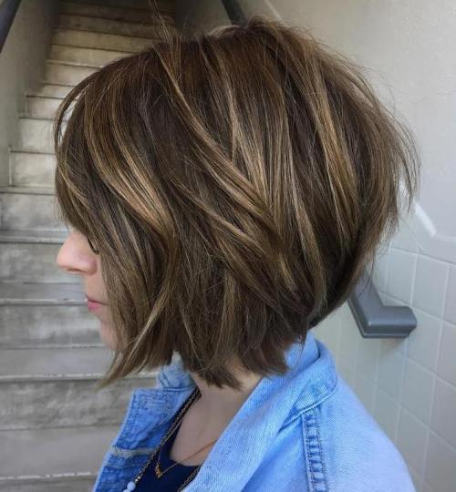 Classy Brown Bob With Long Layers