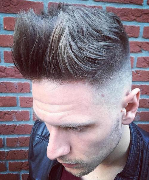 Spiky Top With Skin Fade