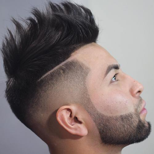 Asian Spiky Fade With Line Up