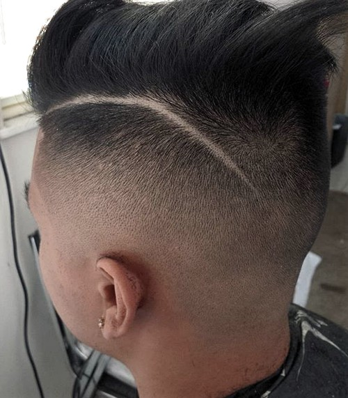 long top faded sides hairstyle for men