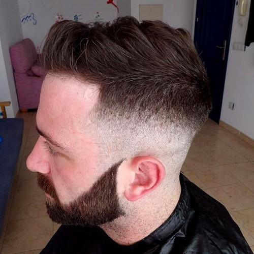 fade haircut and full beard